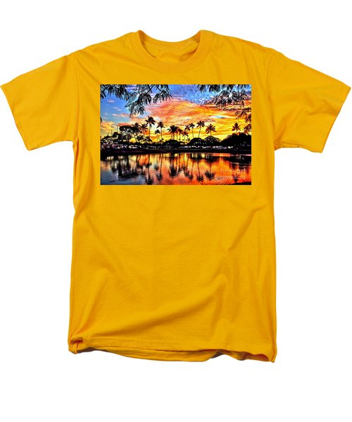 Men's T-Shirt  (Regular Fit) featuring the digital art Path To The Sea by DJ Florek