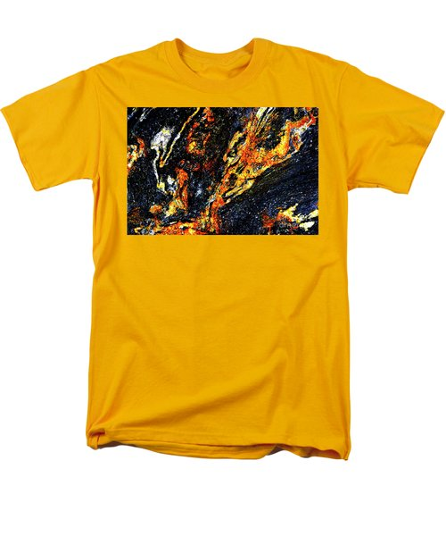Men's T-Shirt  (Regular Fit) featuring the photograph Patterns In Stone - 187 by Paul W Faust - Impressions of Light