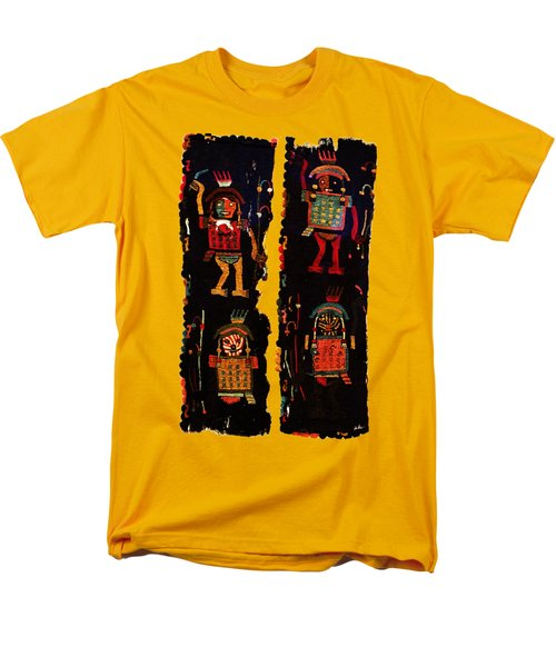 Men's T-Shirt  (Regular Fit) featuring the digital art Peruvian Fab Art by Asok Mukhopadhyay