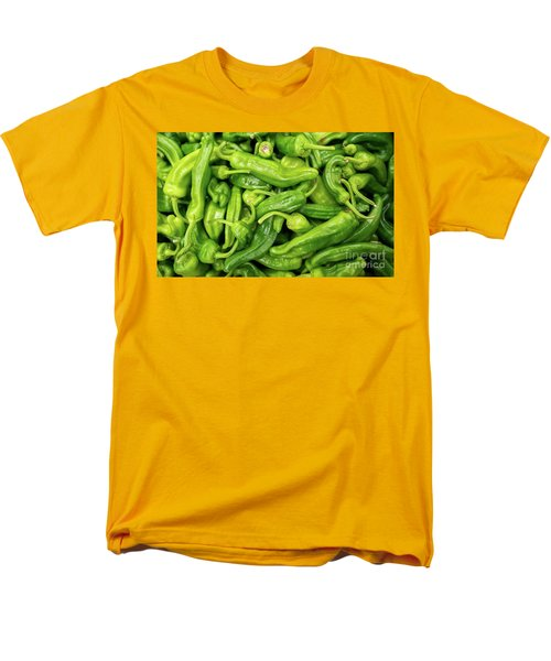 Men's T-Shirt  (Regular Fit) featuring the photograph Picked A Peck Of Peppers by Sandy Molinaro