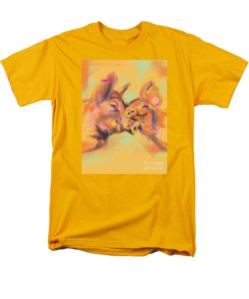 Men's T-Shirt  (Regular Fit) featuring the painting Piggy Love by Go Van Kampen