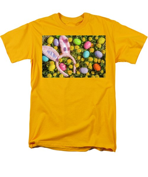 Men's T-Shirt  (Regular Fit) featuring the photograph Pink Easter Bunny Ears by Teri Virbickis
