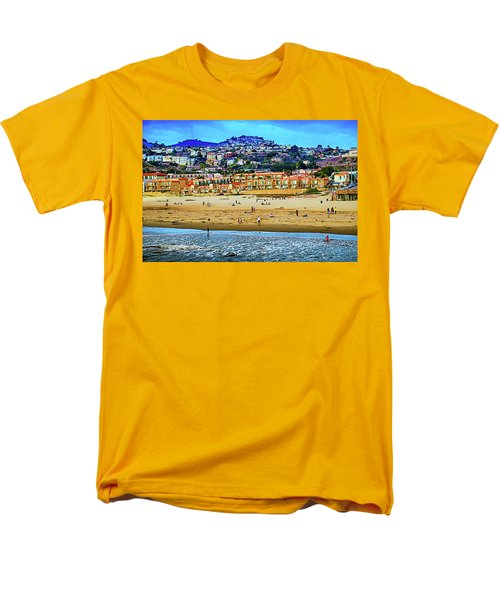 Men's T-Shirt  (Regular Fit) featuring the photograph Pismo Hilltop Ocean View by Joseph Hollingsworth