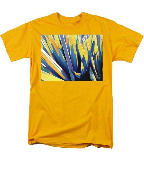 Plant Burst - Yellow Men's T-Shirt  (Regular Fit) by Rebecca Harman