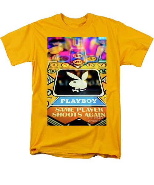 Men's T-Shirt  (Regular Fit) featuring the photograph Playboy Pinball by Colleen Kammerer