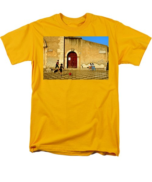 Playing In Taormina Men's T-Shirt  (Regular Fit) by Silvia Ganora