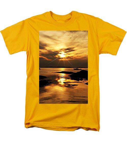 Plum Cove Beach Sunset E Men's T-Shirt  (Regular Fit) by Joe Faherty