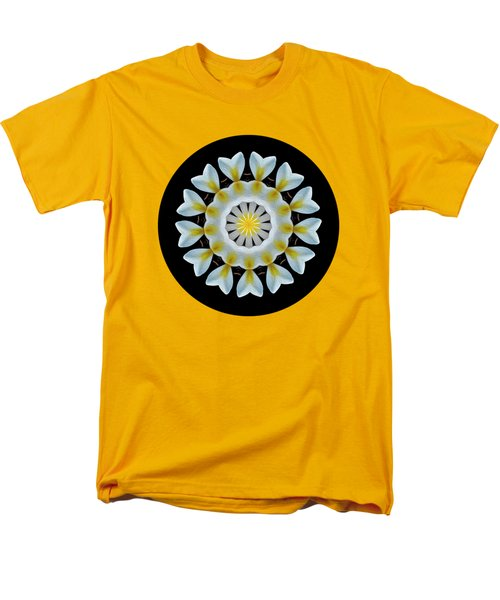 Men's T-Shirt  (Regular Fit) featuring the photograph Plumeria Mandala By Kaye Menner by Kaye Menner