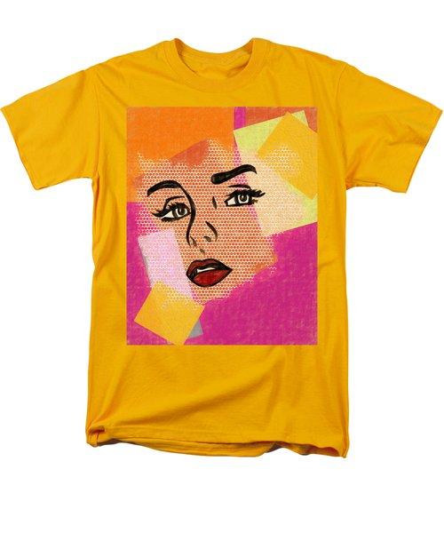 Men's T-Shirt  (Regular Fit) featuring the mixed media Pop Art Comic Woman by Dan Sproul