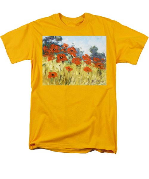 Poppies 3 Men's T-Shirt  (Regular Fit) by Irek Szelag