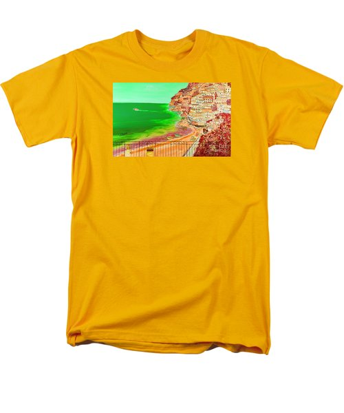 Men's T-Shirt  (Regular Fit) featuring the painting Positano Bay by Loredana Messina