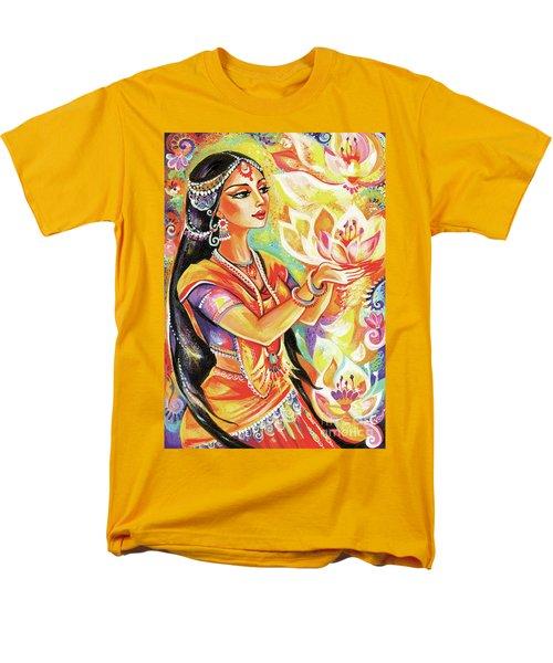 Pray Of The Lotus River Men's T-Shirt  (Regular Fit) by Eva Campbell
