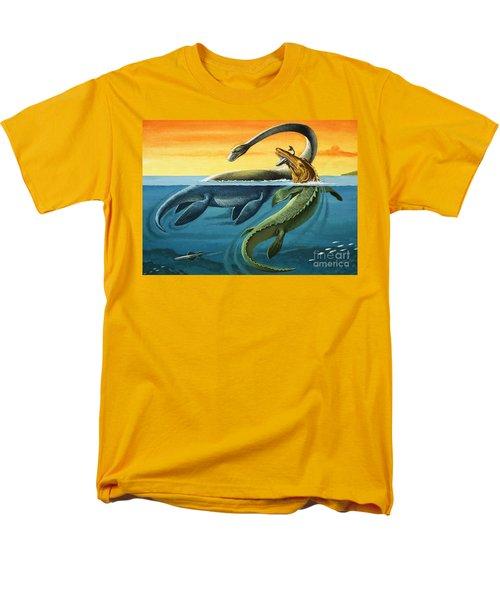 Prehistoric Creatures In The Ocean Men's T-Shirt  (Regular Fit) by English School