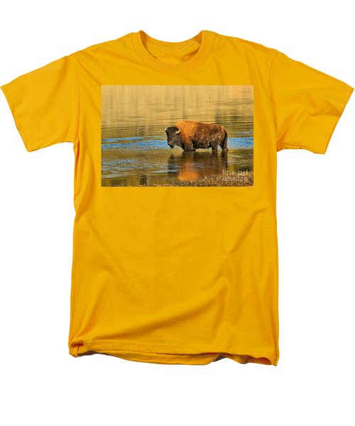 Men's T-Shirt  (Regular Fit) featuring the photograph Preparing To Swim The Yellowstone by Adam Jewell