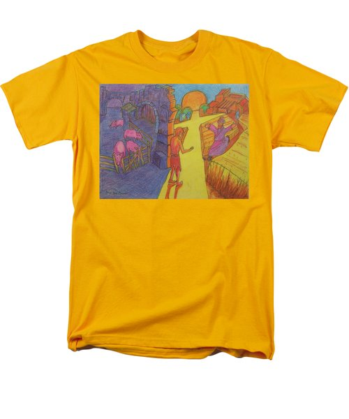 Prodigal Son Parable Painting By Bertram Poole Men's T-Shirt  (Regular Fit) by Thomas Bertram POOLE