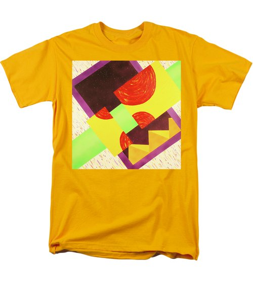 Men's T-Shirt  (Regular Fit) featuring the painting Pyramids And Pepperoni by Thomas Blood