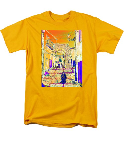 Men's T-Shirt  (Regular Fit) featuring the painting Rabato  by Loredana Messina
