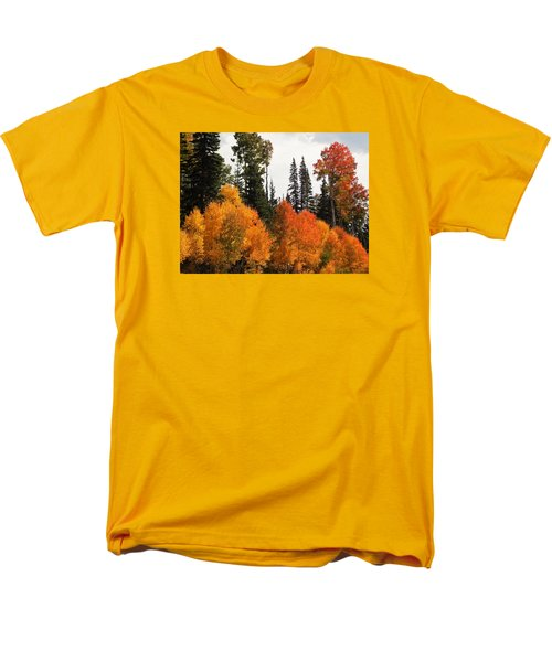 Men's T-Shirt  (Regular Fit) featuring the photograph Radiant Autumnal Forest by Deborah Moen