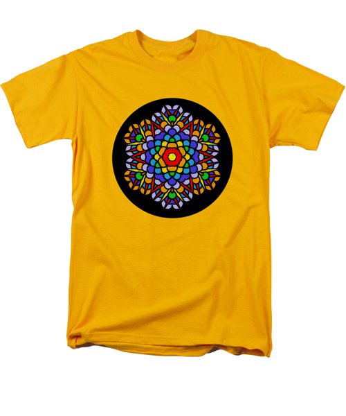Rainbow Mandala By Kaye Menner Men's T-Shirt  (Regular Fit) by Kaye Menner