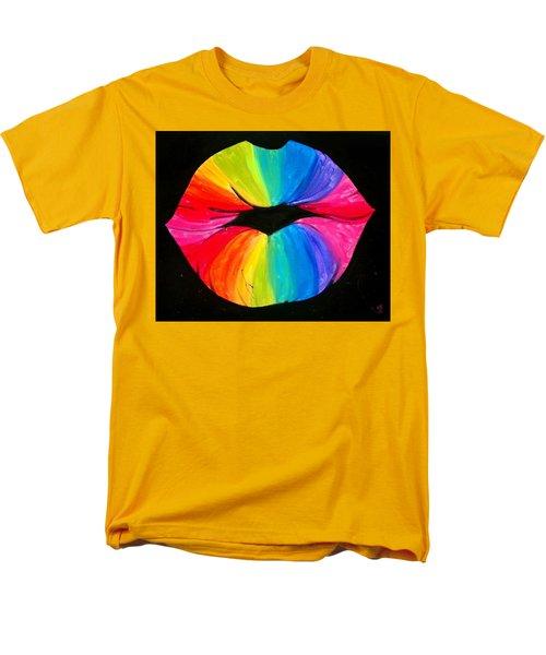 Rainbow Smooch Men's T-Shirt  (Regular Fit) by Marisela Mungia