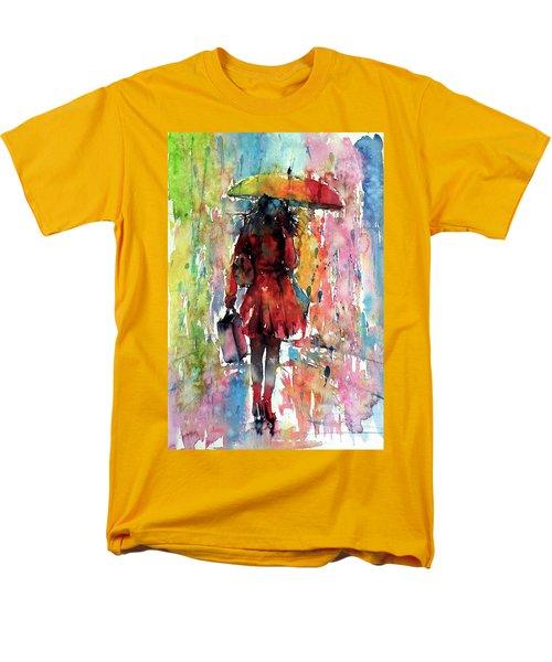 Men's T-Shirt  (Regular Fit) featuring the painting Rainy Day by Kovacs Anna Brigitta