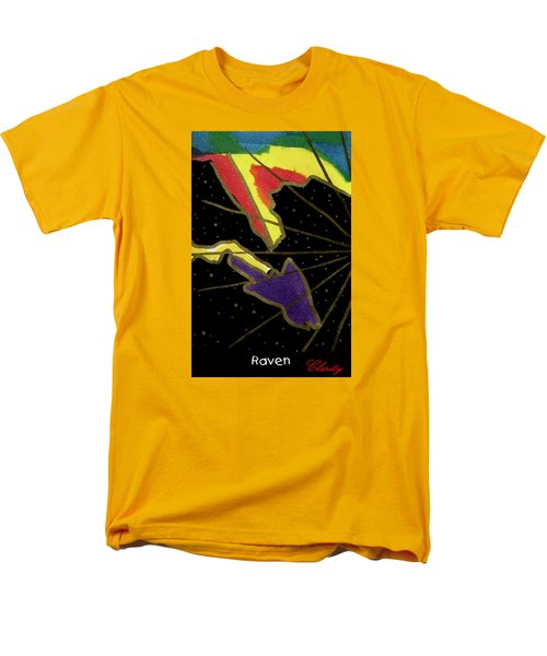 Men's T-Shirt  (Regular Fit) featuring the painting Raven by Clarity Artists
