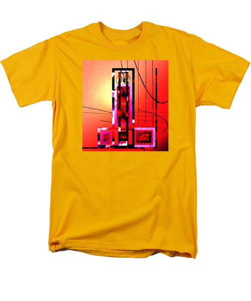 Men's T-Shirt  (Regular Fit) featuring the painting Re-cycled Art by Andrew Penman
