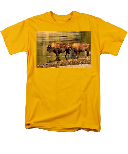 Men's T-Shirt  (Regular Fit) featuring the photograph Ready To Cross The Yellowstone by Adam Jewell