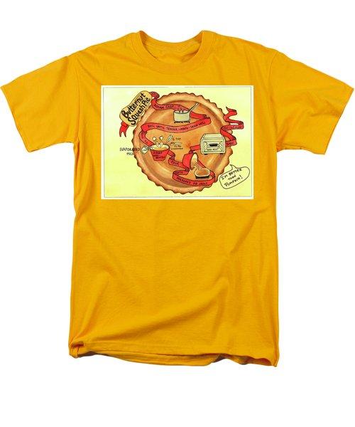Recipe-butternut Squash Pie Men's T-Shirt  (Regular Fit)