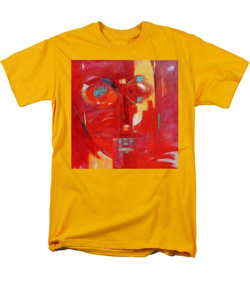 Men's T-Shirt  (Regular Fit) featuring the painting Red Face by Gary Coleman