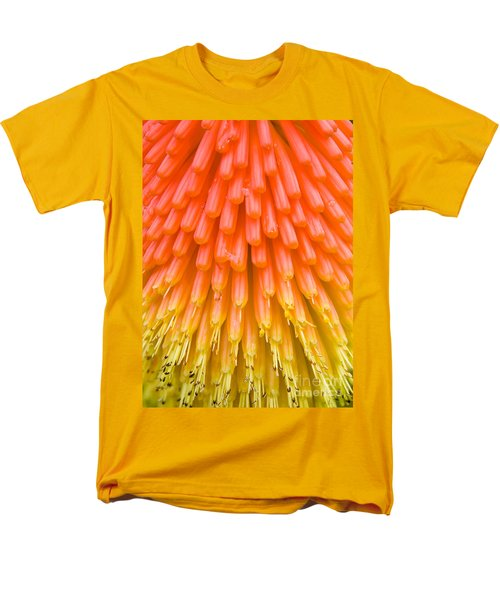 Red Hot Poker Flower Close Up Men's T-Shirt  (Regular Fit) by Colin Rayner