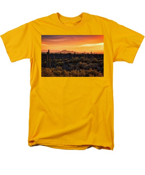 Men's T-Shirt  (Regular Fit) featuring the photograph Red Mountain Sunset Part Two  by Saija Lehtonen