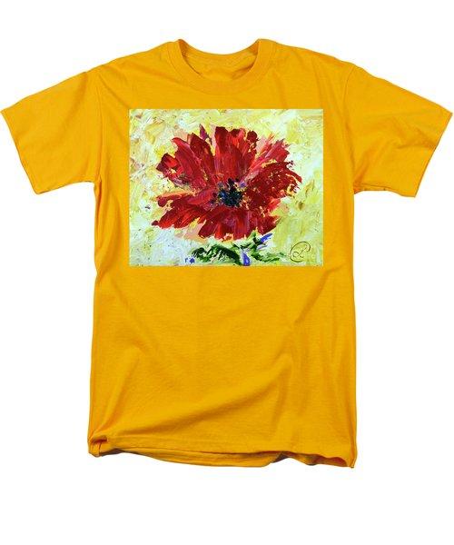 Red Poppy Men's T-Shirt  (Regular Fit) by Lynda Cookson