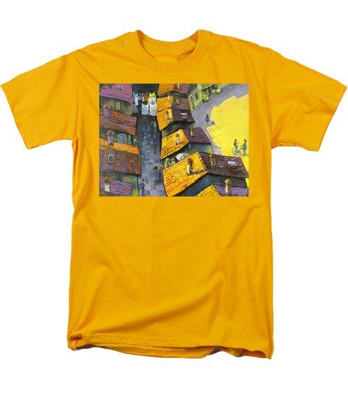 Rooftops Men's T-Shirt  (Regular Fit) by Mikhail Zarovny