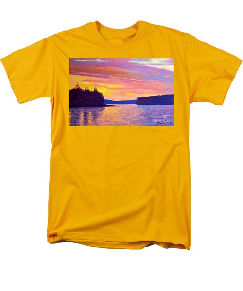 Sailing Home Sunset Men's T-Shirt  (Regular Fit) by Rae  Smith
