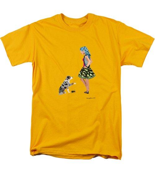 Men's T-Shirt  (Regular Fit) featuring the digital art Samantha by Nancy Levan