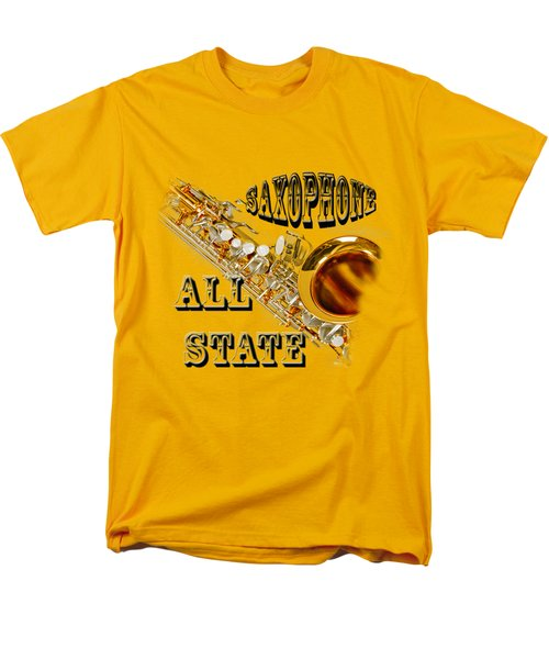 Saxophone All State Men's T-Shirt  (Regular Fit) by M K  Miller