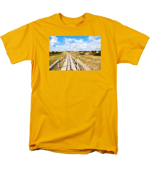 Men's T-Shirt  (Regular Fit) featuring the photograph Seabound Boardwalk by Debbie Stahre