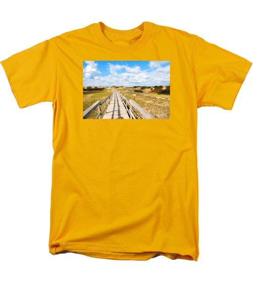 Seabound Boardwalk Men's T-Shirt  (Regular Fit) by Debbie Stahre