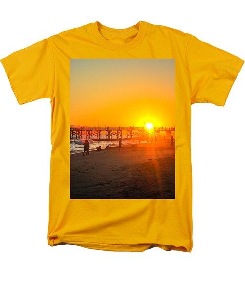 Seal Beach Pier Sunset Men's T-Shirt  (Regular Fit)