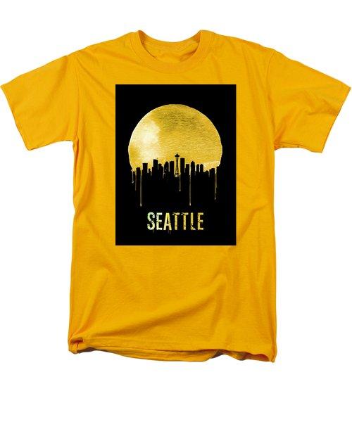 Seattle Skyline Yellow Men's T-Shirt  (Regular Fit) by Naxart Studio