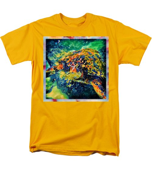 Men's T-Shirt  (Regular Fit) featuring the digital art Sebastian The Turtle by Erika Swartzkopf