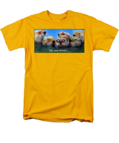 See Otters... Men's T-Shirt  (Regular Fit) by Will Bullas