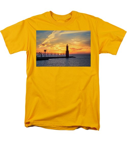 Men's T-Shirt  (Regular Fit) featuring the photograph Serious Sunrise by Bill Pevlor