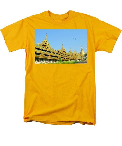 Men's T-Shirt  (Regular Fit) featuring the digital art Shwedagon Pagoda 2 by Eva Kaufman