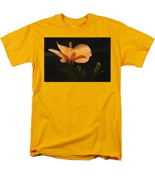 Skc 9937 The Grace Of Hibiscus Men's T-Shirt  (Regular Fit) by Sunil Kapadia