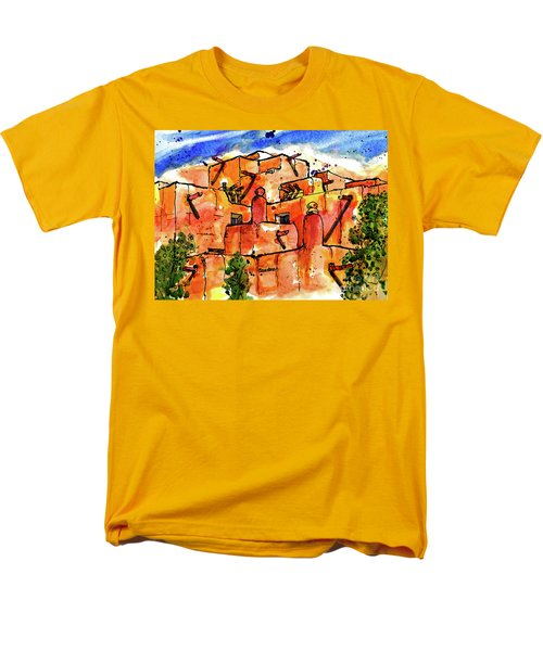 Men's T-Shirt  (Regular Fit) featuring the painting Southwestern Architecture by Terry Banderas