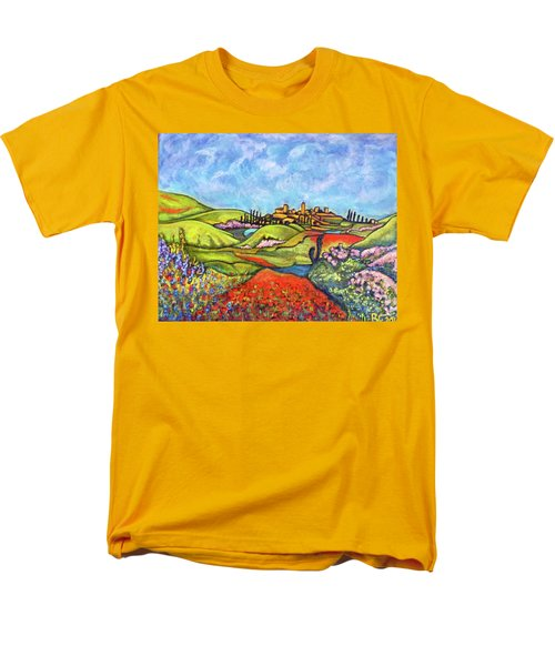 Men's T-Shirt  (Regular Fit) featuring the painting Spring Breeze by Rae Chichilnitsky