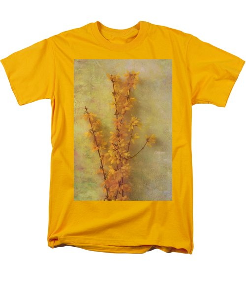 Spring Forsythia Men's T-Shirt  (Regular Fit) by Catherine Alfidi