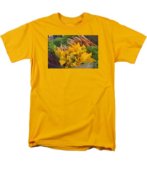 Men's T-Shirt  (Regular Fit) featuring the photograph Squash Blossoms by Jeanette French